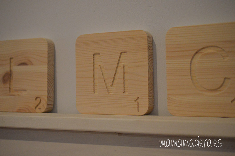 Letras scrabbel madera personalizadas 9