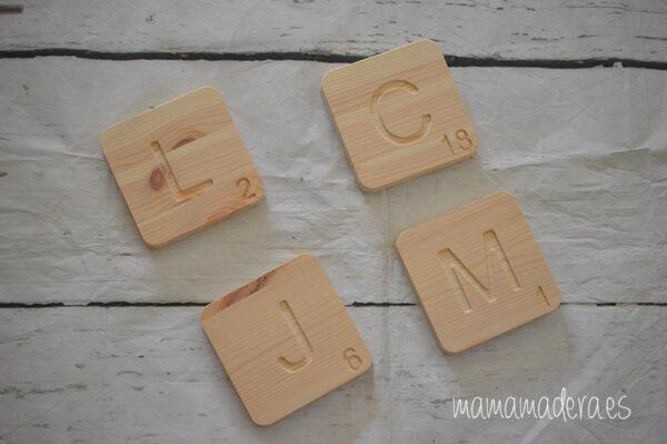 Letras scrabbel madera personalizadas 8