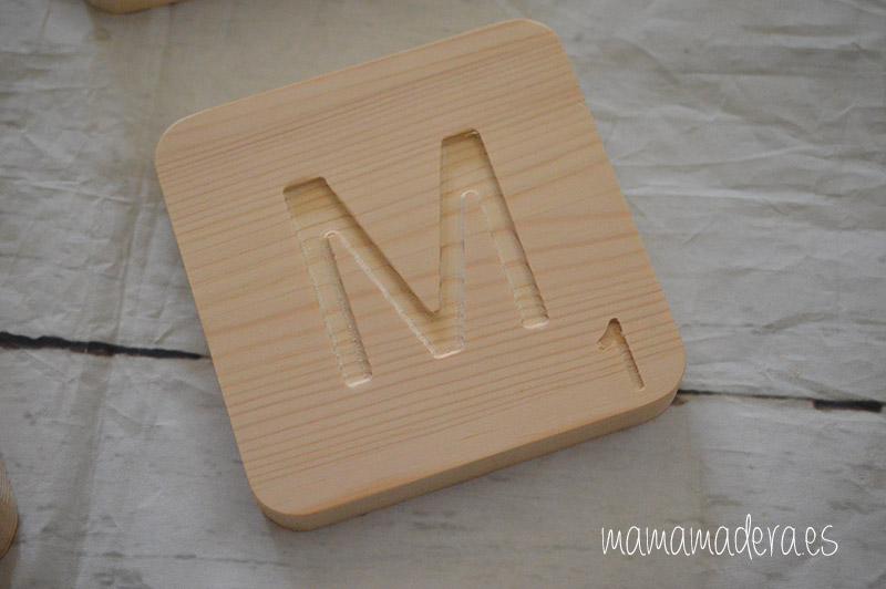 Letras scrabbel madera personalizadas 7