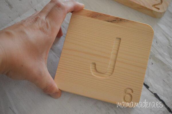 Letras scrabbel madera personalizadas 3