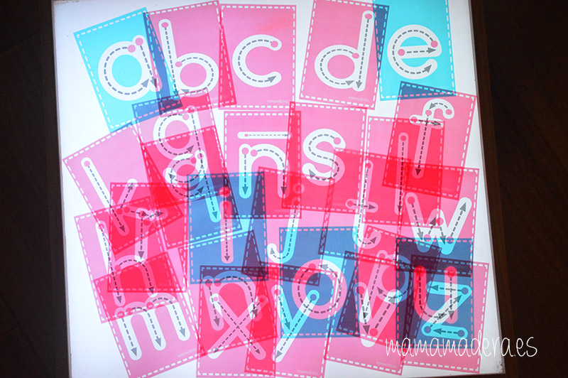 Letras minúsculas para trazar 12