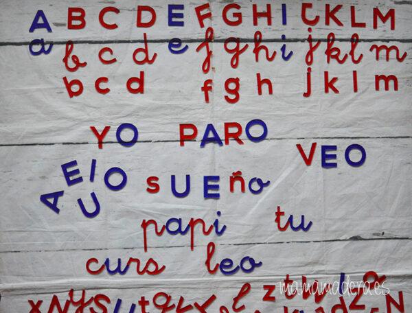 Alfabeto montessori metacrilato 4