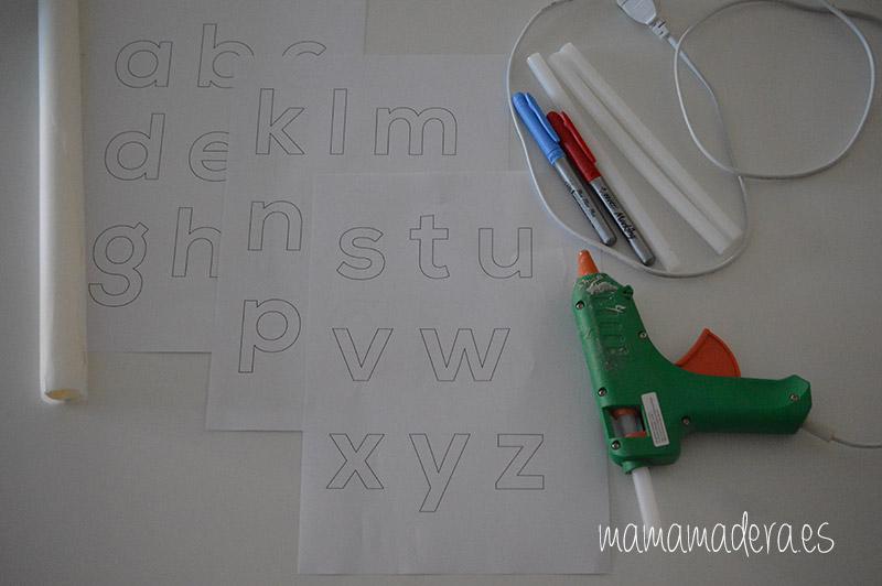 DIY Alfabeto para la caja de luz 17