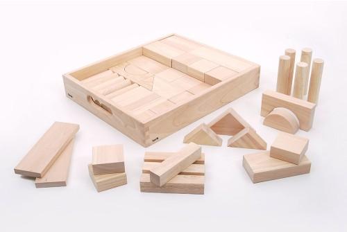 54 bloques gigantes de madera maciza 1