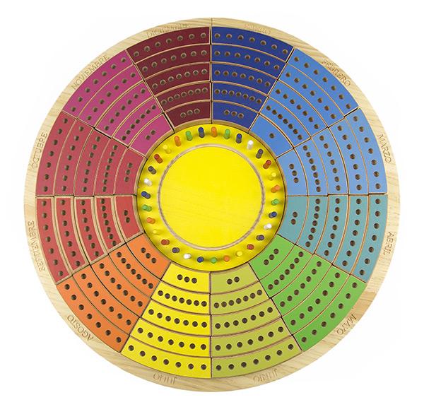 Calendario circular permanente de madera 4