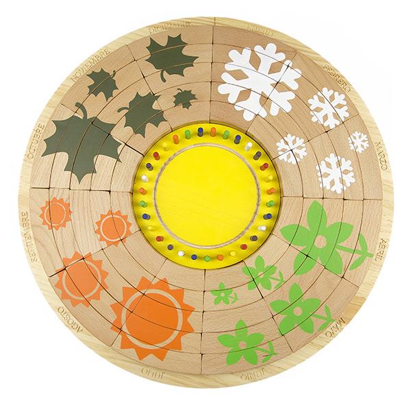 Calendario circular permanente de madera 2