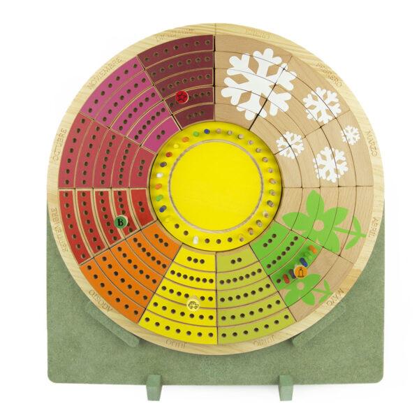 Calendario circular permanente de madera 1