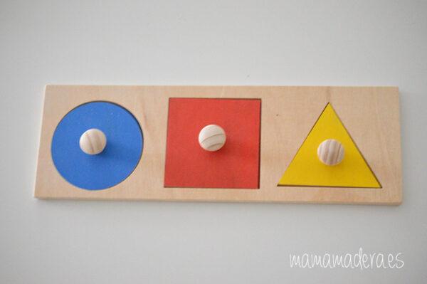Puzzle montessori primeras formas geométricas 1