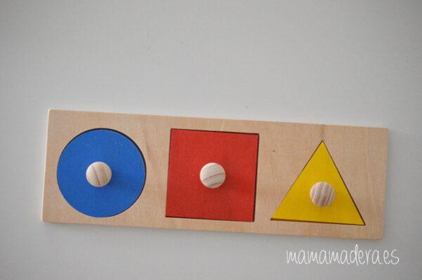 Puzzle montessori primeras formas geométricas 9