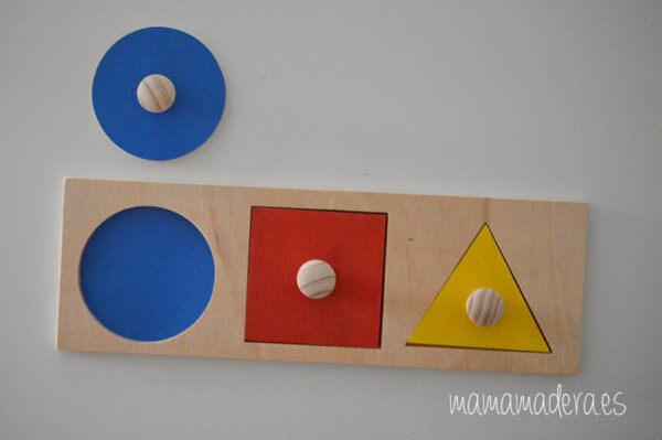 Puzzle montessori primeras formas geométricas 8