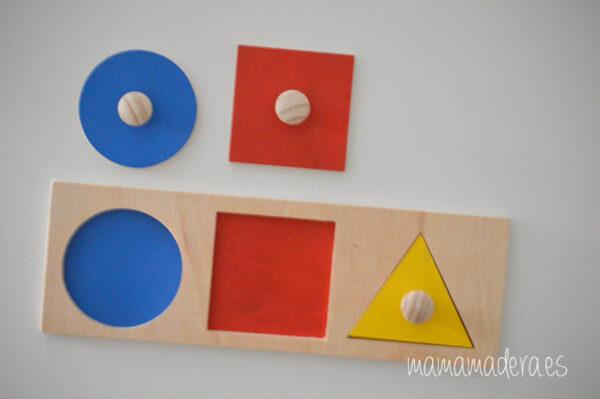 Puzzle montessori primeras formas geométricas 7