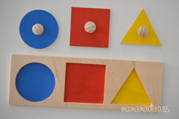 Puzzle montessori primeras formas geométricas 6