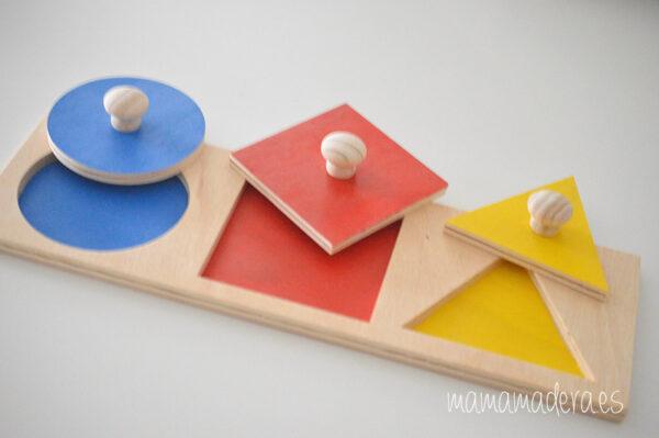 Puzzle montessori primeras formas geométricas 5