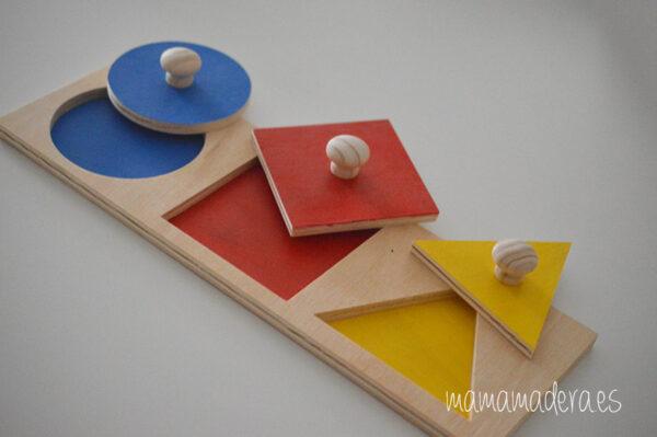 Puzzle montessori primeras formas geométricas 2