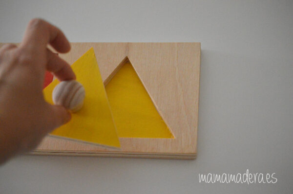 Puzzle montessori primeras formas geométricas 4