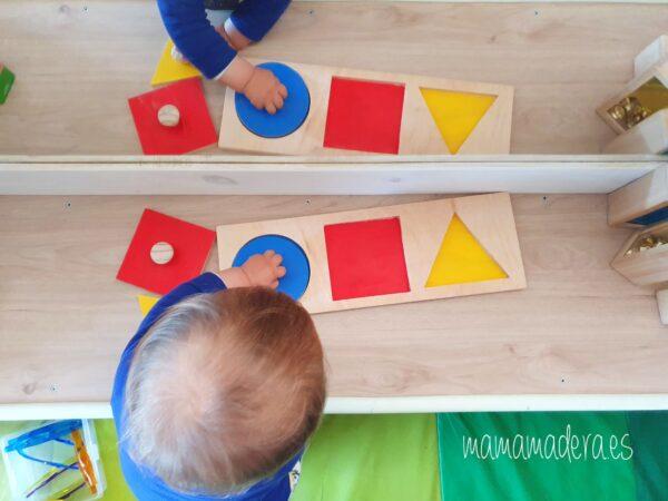 Puzzle montessori primeras formas geométricas 11