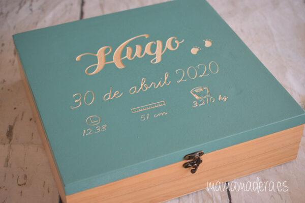 Caja de madera nacimiento personalizada 6
