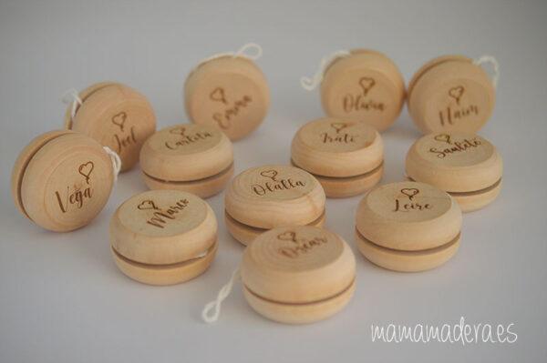 Yoyó de madera personalizado 1