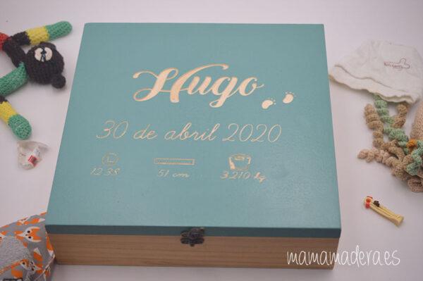 Caja de madera nacimiento personalizada 3