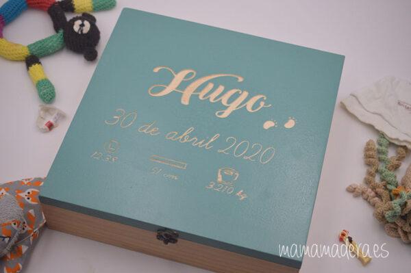 Caja de madera nacimiento personalizada 1